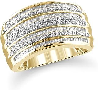 Jewelexcess 1.00 克拉白钻戒指 14k 金银质