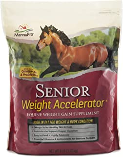 Manna Pro Senior Weight Accelerator for Horses, 8 lb