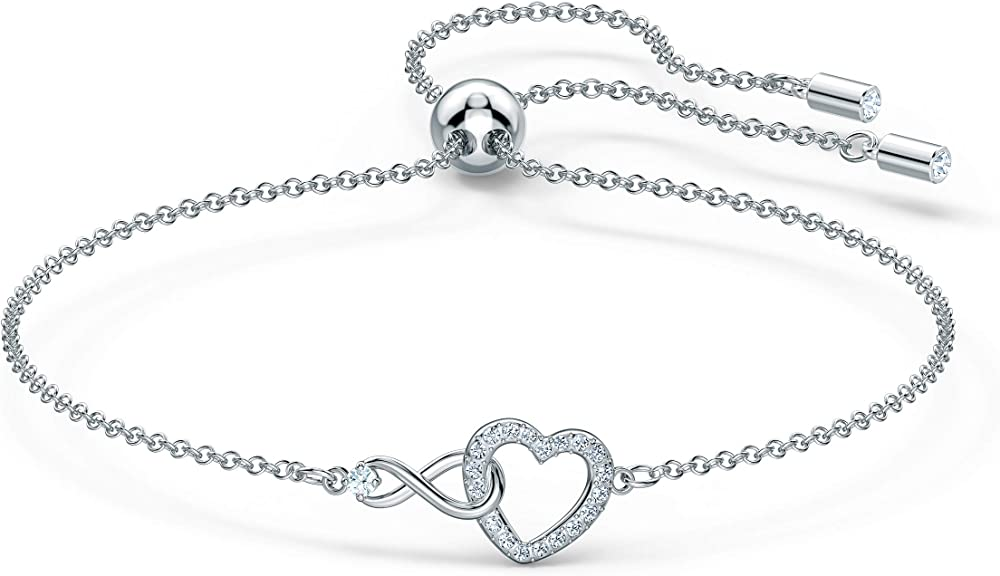 Swarovski braccialetto infinity heart,  placcato rodio 5524421