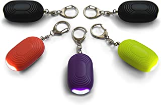 Safesound Personal Alarm Keychain – 130 dB Self Defense Device with LED Light – Emergency Siren SOS Alert Key Chain with 3 Security Modes for Women, Kids, Elderly, and Joggers by WETEN, 5 Pack