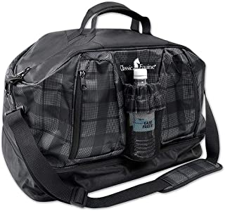 Classic Equine Weekender Duffle Bag Plaid Black