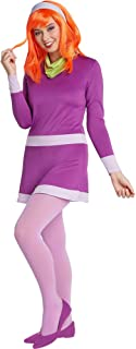 Jerry Leigh Scooby-Doo Daphne Costume for Adults, Standard Size, a Purple Mini Dress, a Headband, and a Green Scarf