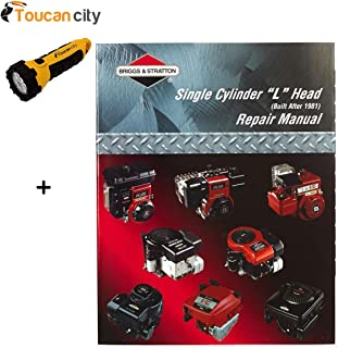 Toucan City LED flashlight and Briggs & Stratton L-Head Single Cylinder Engine Manual 270962