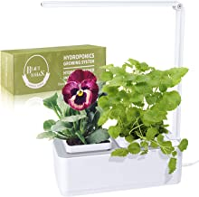 Indoor Herb Garden, BEAUTLOHAS. Hydroponics Growing System with Timer Function & 2 Self-Watering Garden Pots, LED Grow Light for Flower/Fruit/Vegetable, Smart Garden Kit for Home/Room/Kitchen/Office