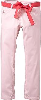 Petit Bateau Little Girls ' Pants with Belt (幼児用子供用)?–?ピンク/ホワイト
