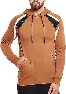 FUGAZEE Men's Faux Leather Hoodie