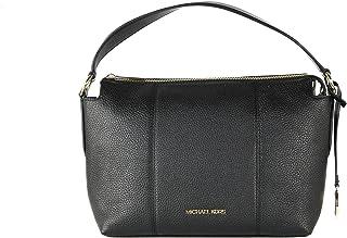 Michael Kors Brooke Medium Pebbled Leather Shoulder Bag - Black