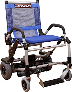 Zinger Chair, Ultra-Portable Motorized Mobility Chair, Lightweight, Folding Electric Mobility Chair, Airline Travel Compatible, Blue