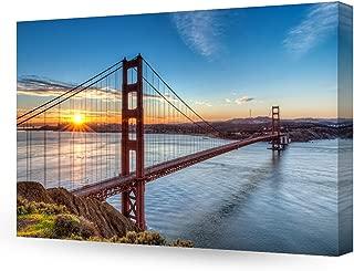 DECORARTS - Golden Gate Bridge, San Francisco, Califonia. Giclee Canvas Prints for Wall Decor. 24x16