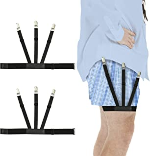 Premium Shirt Stays For Men - Men's Shirts Stay : Dress Shirt Garters For Mens Suspender with Metal Clip Uniform Including Military or Police