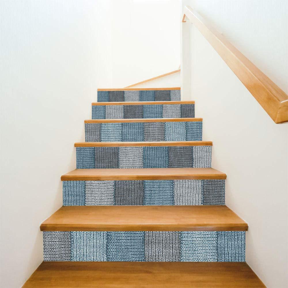Pegatinas de escalera 3D creativas simples pegatinas de escalera de manta de lana cálida pegatinas de pared autoadhesivas a prueba de agua: Amazon.es: Bricolaje y herramientas
