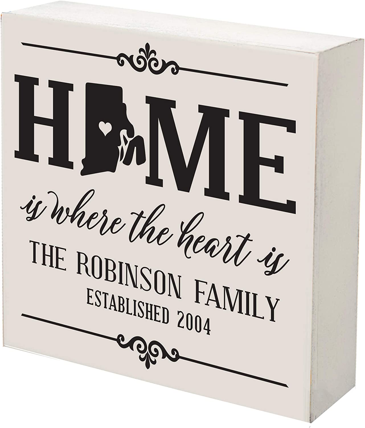 LifeSong Milestones Personalized Rhode Home Cheap super 2021 autumn and winter new special price Island State Shadow