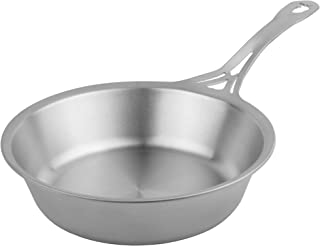 SOLIDTEKNICS nöni 8-inch Sauté Pan – Seamless Cookware, 1/8-inch Ferritic Stainless Steel, Satin Finish, Made in the USA