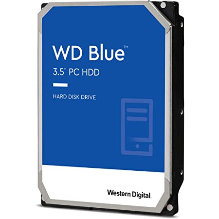 "Western Digital 2TB WD Blue PC Hard Drive HDD - 5400 RPM, SATA 6 Gb/s, 256 MB Cache, 3.5"" - WD20EZAZ"