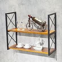 Drijvende Planken Voor Muur Industriële Pijprekken, Opbergrek En Displaystandaard Voor Keukenbar Restaurant, 2-laags Metal...