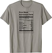 Black Nutritional Facts T-Shirt