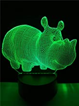 LXXYD 3D Visual Light Optical Illusion Led Night Light - New Colorful 7 Color Change Table Lamp Led Night Light Children R...