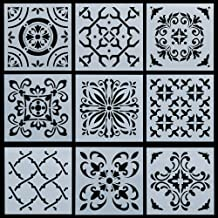 Stencils 9pcs/Set Flower Pattern Layering Stencils for Walls Painting Scrapbooking Stamp Album Decor Embossing Paper Card Template