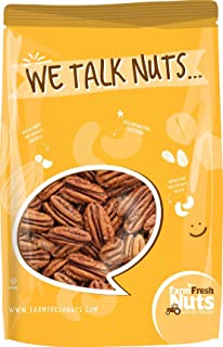 Whole, Shelled & Raw Georgia Pecans by Farm Fresh Nuts   1 LB Bag of Southern Tastiness   Unsalted & Handpicked for Freshness   Perfect For Pecan Pie, Cookie, Praline, Butter Recipes & More
