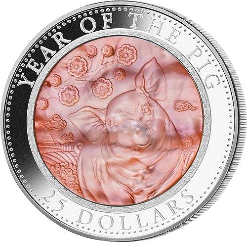 para mayoristas Pig Pig Pig Cerdo Nacar Lunar Year Series 5 Oz Moneda plata 25  Cook Islands 2019  primera vez respuesta
