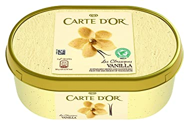 Carte D'Or Classic Vanilla Ice Cream Dessert, 1 Litre (Frozen)