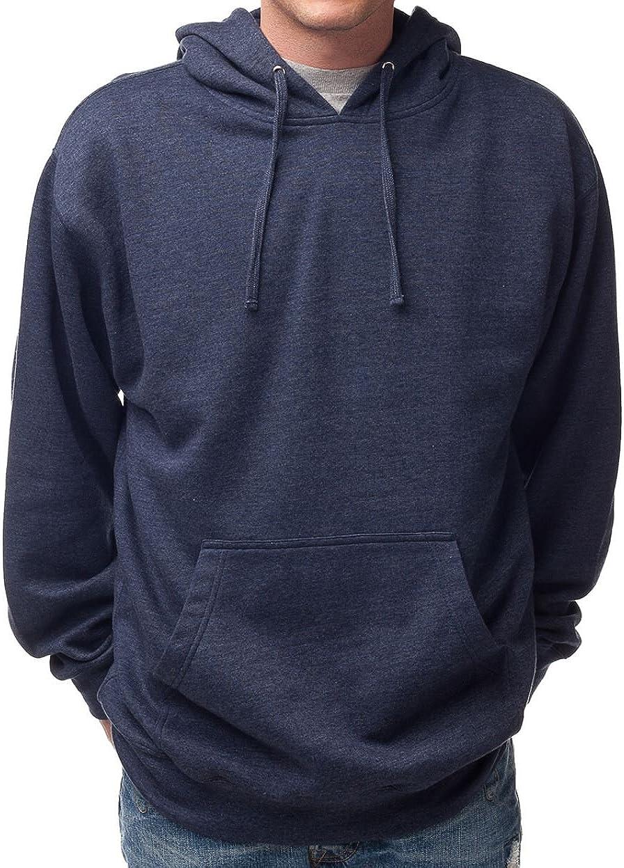 Hanes Financial sales sale Men's Pullover EcoSmart Popular standard Fleece Heather XL Hoodie Navy