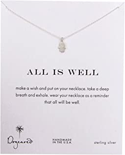 Dogeared - All is Well Hamsa Reminder Necklace