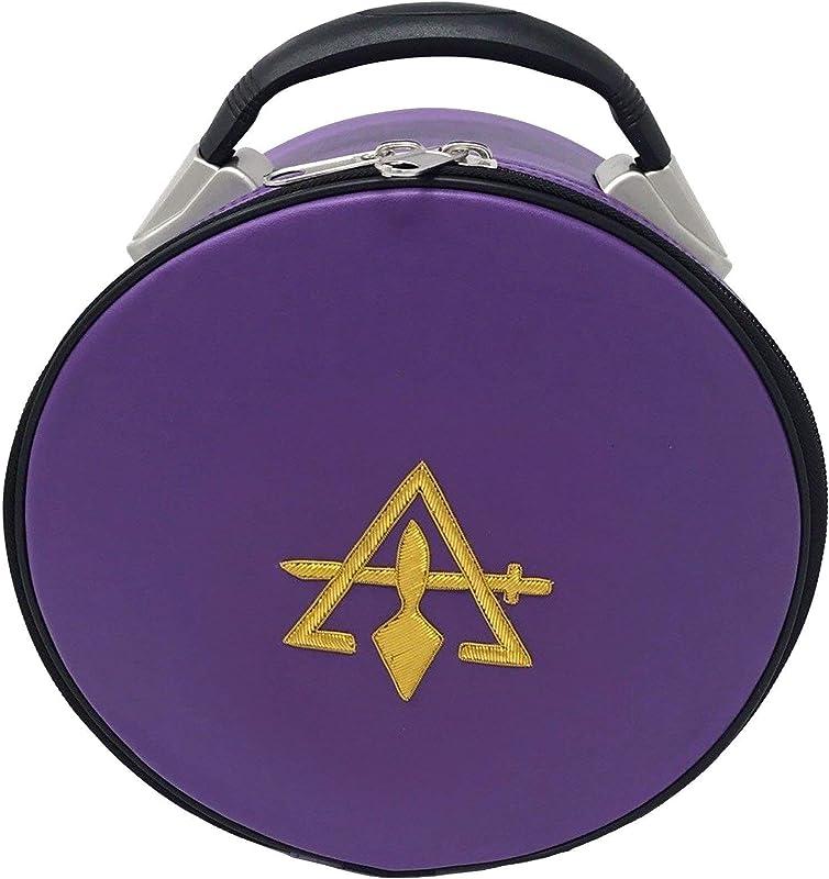Cryptic Royal Select Masonic Hat Cap Case Purple