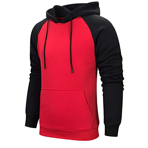classic attractive & durable strong packing Black and Red Hoodie Sweat: Amazon.co.uk