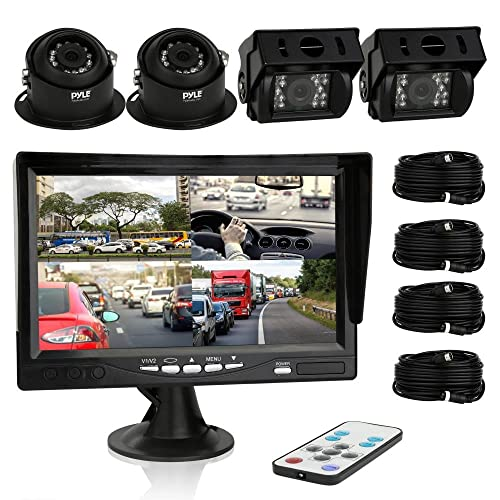 Pyle Car Rear View Camera and Video Monitor, IP68 Waterproof, Commerical Grade, 4