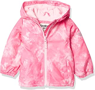 Girls' Midweight Hooded Fashion Jacket Coat with Fleece Lining