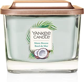Yankee Candle Elevation Collection with Platform Lid Medium 3-Wick Square Scented Candle, Shore Breeze