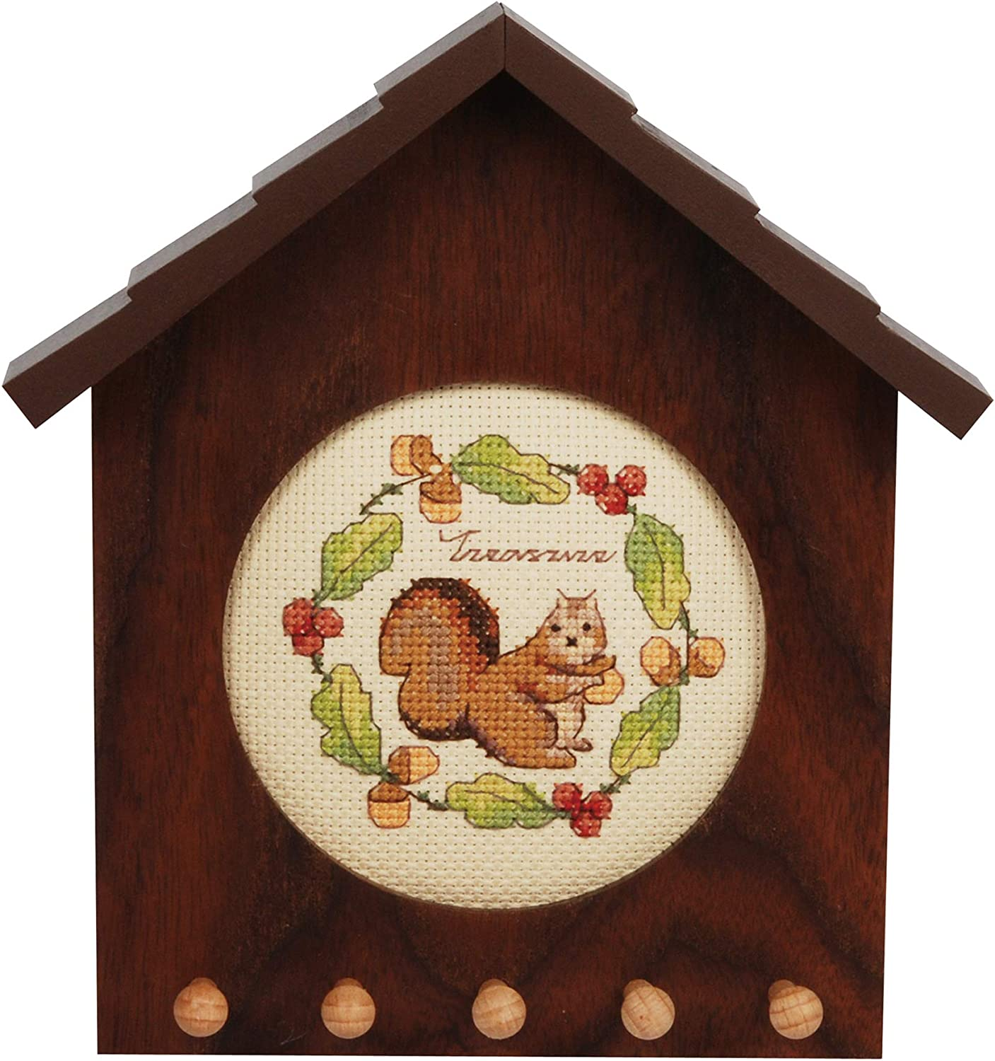 Xiu Crafts Counted 35% OFF Cross Stitch Kit Squirrel Holder- 104 Al sold out. Key -