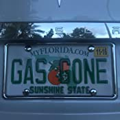 Tabless License Plate Frame and Holder//Bracket Carshow Automotive Products 77402 Plateguard Chrome