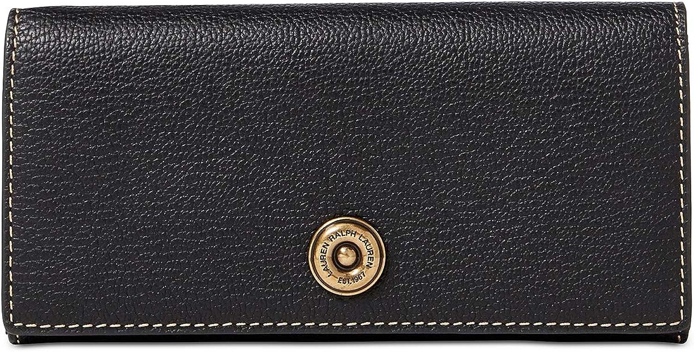 Ralph Lauren Millbrook Flap Closure Genuine Leather Continental Wallet