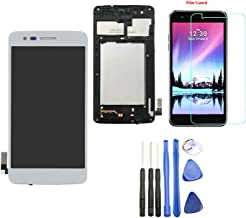 Ubrokeifixit Compatible Touch Glass Panel Screen Digitizer LCD Display Assembly with Frame Replacement for LG K8 2017