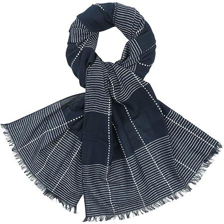 Herren Baumwoll Schal grau schwarz Baumwollschal Herrenschal Winter Herbst Tuch