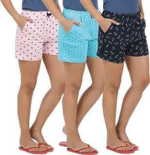 Peach Blossom Womens Casual Printed Shorts