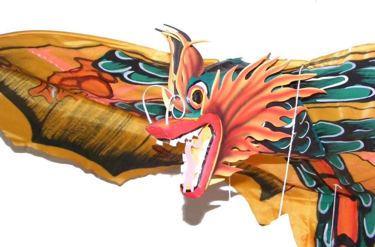 OMA Dragon Kite Balinese Asian Traditional Fabric Kite - Large S