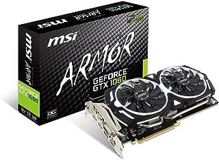 MSI GAMING GeForce GTX 1060 3GB GDRR5 192-bit HDCP Support DirectX 12 Dual Fan VR Ready OC Graphics Card (GTX 1060 ARMOR 3G OCV1)
