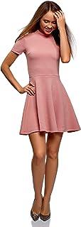 Mujer Vestido de Tejido Texturizado con Parte Inferior Acampanada