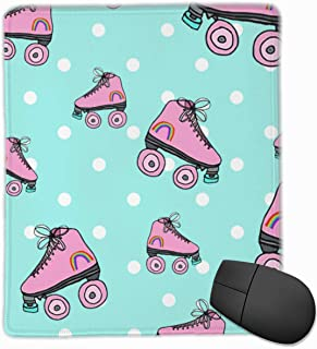 Mouse Pad Pink Rainbow Roller-Skating Mousepad Mat Smooth Surface for Computer and Office Desk