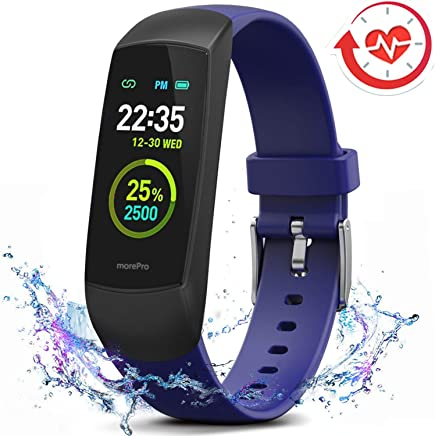 Amazon.com: MorePro HRV Fitness Tracker Heart Rate, Activity ...