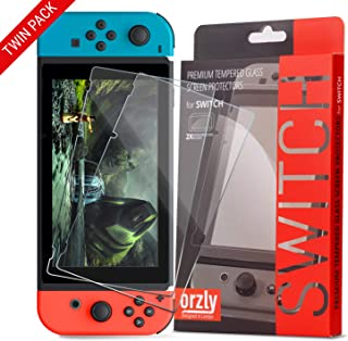 Best Orzly Glass Screen Protectors compatible with Nintendo Switch - Premium Tempered Glass Screen Protector TWIN PACK [2x Screen Guards - 0.24mm] for 6.2 Inch Tablet Screen on Nintendo Switch Console Review