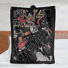 بطانية رمي Gundam HEAVYARMS، بطانيات ورميات من القطيفة فائقة النعومة، بطانية وثيرة خفيفة الوزن للأريكة وسرير 203 × 152 سم