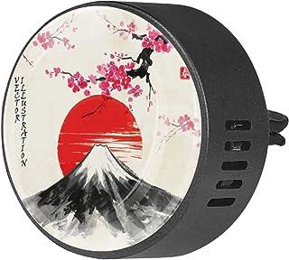 2pcs diffuseur d'aromathérapie diffuseur d'huile essentielle de voiture clip d'aération motif japonais