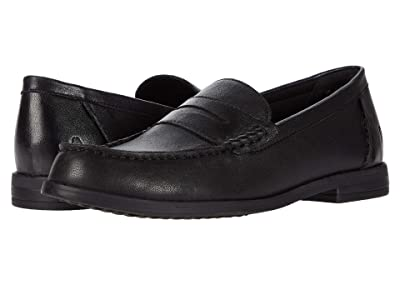 Hush Puppies Wren Loafer PF (Black Leather) Women