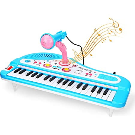 ASTOTSELL Baby Piano Keyboard Toy, Rosa 24 Teclas Niños Piano ...