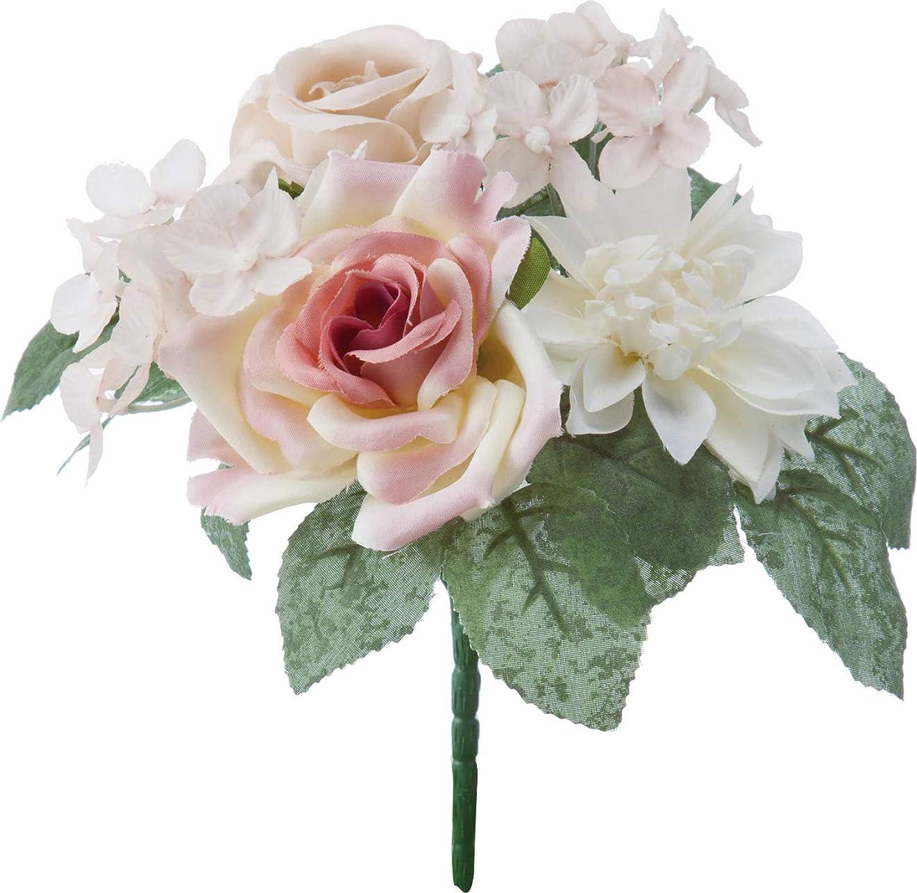 温かい余計な体現するポピー(Poppy) 造花 ドライローズミックスブッシュ FB -2482 BE