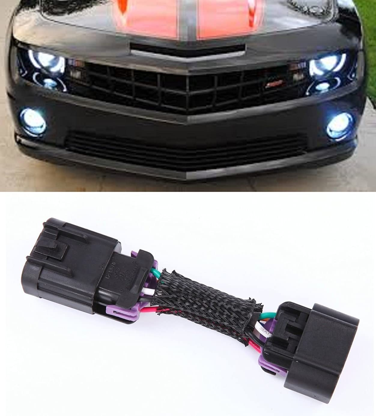 Muzzys 2010-2013 Chevrolet Camaro DRL + Headlights + Halos Harness Plug and Play Adapter Kit,Gain Control of your Daytime Running (Fog) Lights! fjh4206310